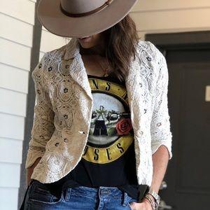 Cynthia Rowley lace jacket